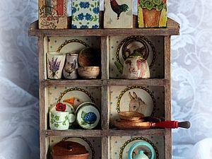 Фото набора  Мини-посуды 18 предметов в Шкафчике