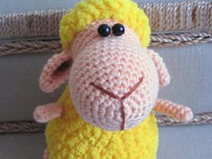 Вяжем маленькую новогоднюю овечку | Ярмарка Мастеров - ручная работа, handmade