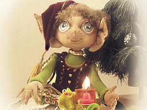 Работа над текстильной куклой. Утяжка лица Эльфика. | Ярмарка Мастеров - ручная работа, handmade