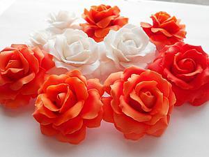 Раскрываем секреты лепки крупной розы из глины Fimo. Ярмарка Мастеров - ручная работа, handmade.