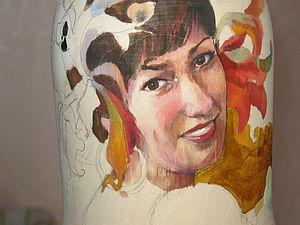 Роспись орнамента на матрешке. Ярмарка Мастеров - ручная работа, handmade.