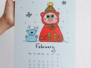 Календарик На 2014 год | Ярмарка Мастеров - ручная работа, handmade