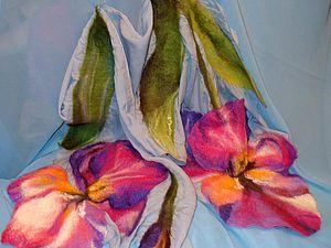 Приглашаю на мастер-класс по валянию шарфов на шелке (шерстяная акварель) с объемными элементами   Ярмарка Мастеров - ручная работа, handmade