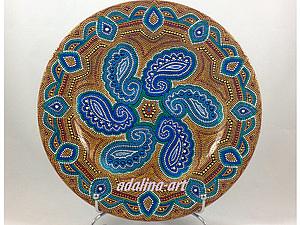 Точечная роспись Point-to-point - Декоративная тарелка | Ярмарка Мастеров - ручная работа, handmade