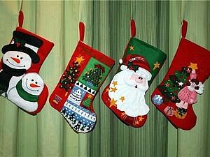 12 и 13 декабря Новогодний сапожок на швейно-вышивальной машине | Ярмарка Мастеров - ручная работа, handmade