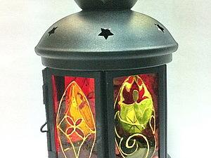 Сказочный фонарик - новый мастер-класс по витражной росписи стекла! | Ярмарка Мастеров - ручная работа, handmade
