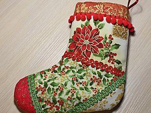 Шьём новогодний сапожок для подарков.. Ярмарка Мастеров - ручная работа, handmade.