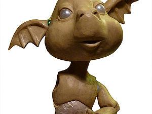 История одного шарнирного дракона. Пластилиновое детство.. Ярмарка Мастеров - ручная работа, handmade.