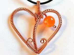 Делаем подвеску-сердечко из проволоки в технике Wire Wrap. Ярмарка Мастеров - ручная работа, handmade.