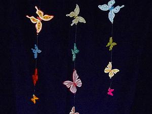 Декор для комнаты из деревянных бабочек | Ярмарка Мастеров - ручная работа, handmade