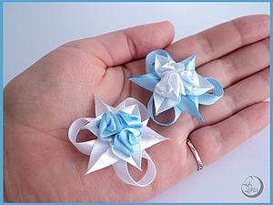 Крошечные розочки из атласных лент | Ярмарка Мастеров - ручная работа, handmade