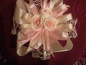 Цветок из фоамирана и атласных лент | Ярмарка Мастеров - ручная работа, handmade