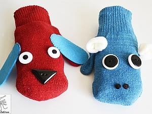 Как просто сделать веселые рукавички. Ярмарка Мастеров - ручная работа, handmade.