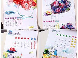 Календарь на 2015 год | Ярмарка Мастеров - ручная работа, handmade
