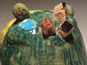 Колокольчик Деревенька | Ярмарка Мастеров - ручная работа, handmade