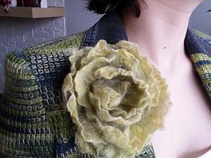 Варианты ношения броши-цветка | Ярмарка Мастеров - ручная работа, handmade