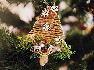 Делаем украшение для декора «Милая ёлочка». Ярмарка Мастеров - ручная работа, handmade.