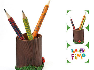 Карандашница из FIMO. Ярмарка Мастеров - ручная работа, handmade.
