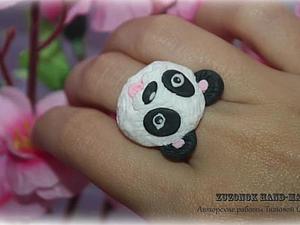 Делаем милые мордочки панд из полимерной глины. Ярмарка Мастеров - ручная работа, handmade.