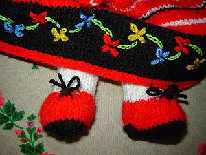 Вышивка по вязаному изделию, мастер класс. Ярмарка Мастеров - ручная работа, handmade.
