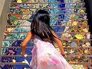 25 идей солнечного декора лестниц с помощью керамической плитки | Ярмарка Мастеров - ручная работа, handmade