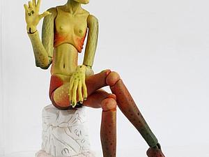 «Классическая авторская шарнирная кукла из самозатвердевающих пластиков».   Ярмарка Мастеров - ручная работа, handmade