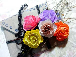 Produce roses for scrapbooking