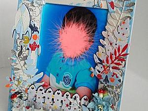 Детская скрап-рамка для фотографии своими руками. Ярмарка Мастеров - ручная работа, handmade.