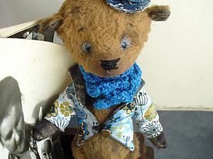 Мишка-тедди - Гюстав, хранитель шкатулки воспоминаний | Ярмарка Мастеров - ручная работа, handmade
