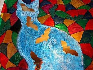Расписываем витраж «Кошки-мышки». Ярмарка Мастеров - ручная работа, handmade.