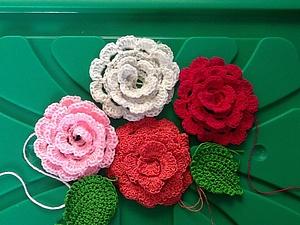 Вязание розы крючком для начинающих. | Ярмарка Мастеров - ручная работа, handmade