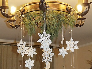 Снежинка и Снежинки | Ярмарка Мастеров - ручная работа, handmade