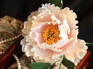 Сахарные цветы в английской технике - пион | Ярмарка Мастеров - ручная работа, handmade