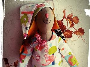 Мастер-класс: шьем зайку «Сплюша» в стиле Тильда. Часть 2: одежда для зайки. Ярмарка Мастеров - ручная работа, handmade.