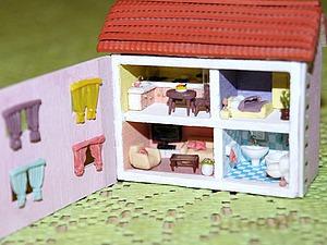 Видео мастер-класс: кукольный домик в миниатюре. Часть 2. Ярмарка Мастеров - ручная работа, handmade.