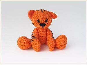 Вяжем симпатичного тигренка. Ярмарка Мастеров - ручная работа, handmade.