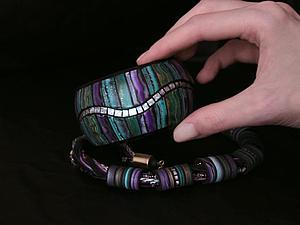 Видео мастер-класс: браслет с эффектом инкрустации из полимерной глины | Ярмарка Мастеров - ручная работа, handmade