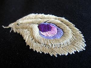 Вышивка гладью с перехватом по шнуру | Ярмарка Мастеров - ручная работа, handmade
