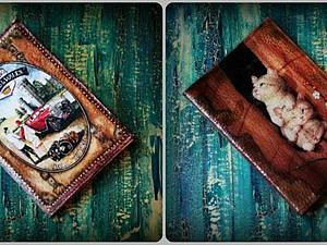 Мастер-класс по декупажу кожаной обложки на паспорт. | Ярмарка Мастеров - ручная работа, handmade