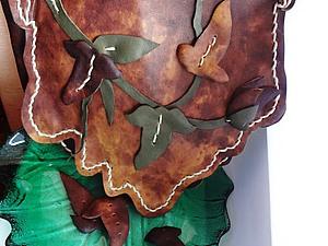 """Сумка из кожи """"Осенние листья"""" Часть 1.. Ярмарка Мастеров - ручная работа, handmade."""