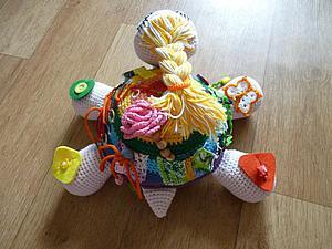 Мастер-класс: развивающая игрушка «Черепашка Кнопка-Кармановна» своими руками | Ярмарка Мастеров - ручная работа, handmade