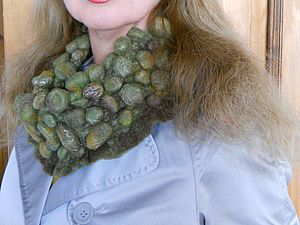 Шибори на примере шарфа-воротника. Ярмарка Мастеров - ручная работа, handmade.