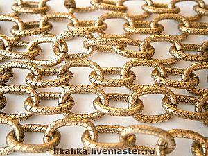 Золотые цепи крупное плетение