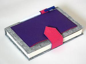 Мастерим блокнот в фетровой обложке. Ярмарка Мастеров - ручная работа, handmade.