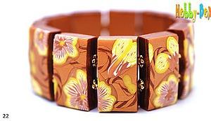 Делаем браслет из полимерной глины «Полевой вьюнок» | Ярмарка Мастеров - ручная работа, handmade