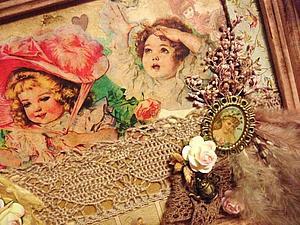 Винтажные Панно-рамочки | Ярмарка Мастеров - ручная работа, handmade
