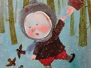 Шерстяная акварель НЕ ВАЛЯНИЕ! Екатерины Буянковой - создаем картину по мотивам работ Е.Гапчинской! | Ярмарка Мастеров - ручная работа, handmade
