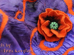 Мастер-класс по валянию - Войлочные цветы - лилия и мак!!! | Ярмарка Мастеров - ручная работа, handmade