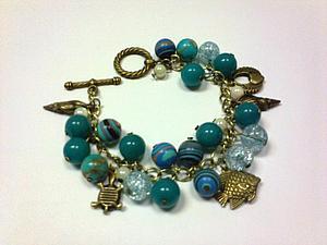 Сборка комплекта украшений - браслет и серьги   Ярмарка Мастеров - ручная работа, handmade