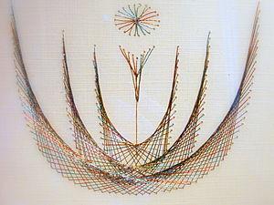 Мастер-класс по вышивке изонитью. Ниткография. | Ярмарка Мастеров - ручная работа, handmade